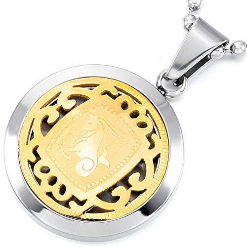 Zodiac Stainless Steel Necklaces Pendants - 1