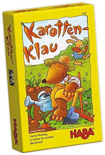 HABA Carrot Pinching - Cooperative Dice Game for On the Go (Made in Germany)