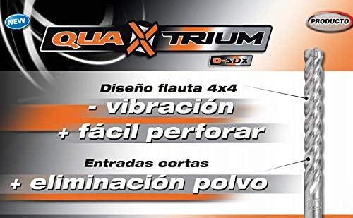 5 tama/ños, 5 a 12 mm 5-12mm Gris Fischer 545507 D-SDX-Juego de Brocas Pared Quatrium