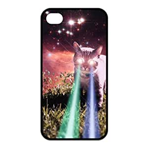 Custom Your Own Personalised Mega Space Cat Rising iPhone 4/4S Best Durable Case Cover