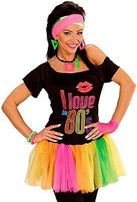NET TOYS Falda neón con tutú Multicolor y Enagua Vestido Colores ...