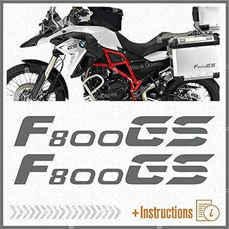 2pcs Adesivi compatibile con Moto F800 GS BMW Motorrad F 800 Rosso