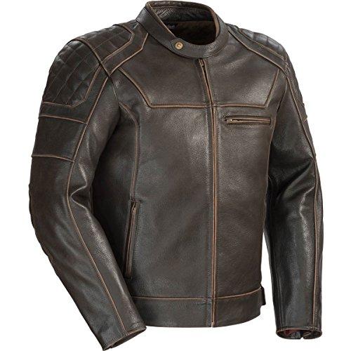 Racing Mens Jacket Vintage - Cortech Dino Mens Leather Sports Bike Racing Motorcycle Jacket - Vintage Brown/Medium