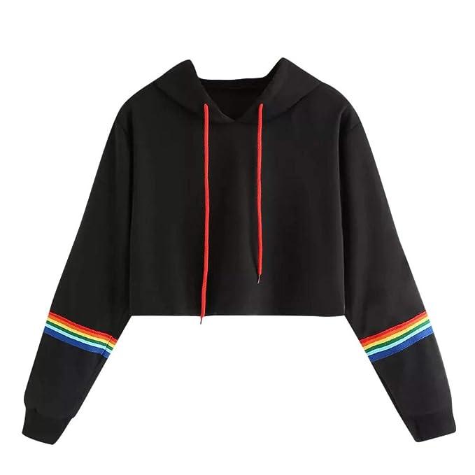 BBsmile Sudaderas Cortas,Sudaderas Tumblr Mujer Cortas Blusa Tops Hoodie Sweatshirt Outwear: Amazon.es: Ropa y accesorios