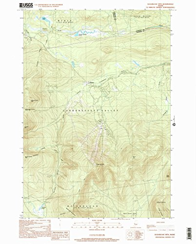 Sugarloaf Mtn ME topo map, 1:24000 scale, 7.5 X 7.5 Minute, Historical, 1997, updated 2000, 26.8 x 21.5 IN - - Sugarloaf Outlet