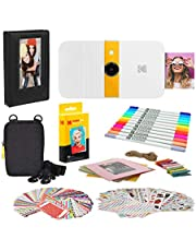 KODAK Smile Instant Print Digitale Camera (Wit/Geel) Fotolijsten Bundel met Soft Case