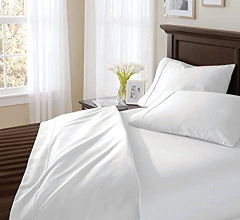 Coit & Campbell Hotel Premium Collection 600 Thread Count Solid 100% Cotton Sateen Sheet Set King Size, - Solid Sateen Sheets
