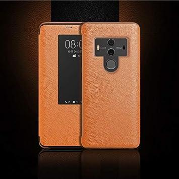 KKOPIY-KI Flip Funda de Cuero Cruzada Horizontal de la Textura de la Moda for Huawei Mate 10 Pro, Llamada Respuesta Función & Dormir/Despertador (Color : Marrón): Amazon.es: Electrónica