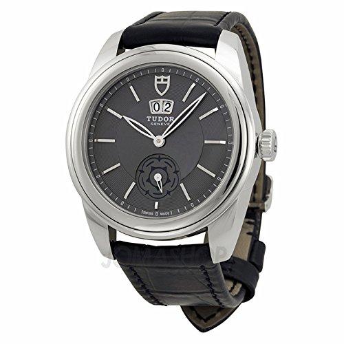 Tudor Tudor Glamour Mecánica Gris Dial Negro Cuero Reloj 57000-GYBKL
