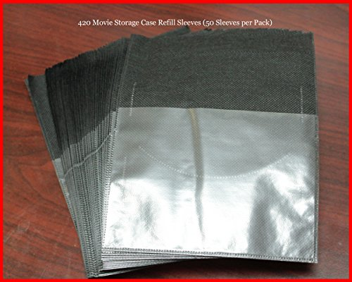 New 50 Pk Refill Sleeves for DVD Blu-Ray Movie Storage case replacement - Movie Dvd Sleeves