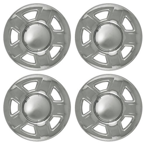 Set of 4 Chrome Wheel Skin Hub w Dimpled Spokes: Ford Escape (01 - 06) & Mazda Tribute (01 - 04) 15x6 Inch 5 Lug Steel Rim -Aftermarket: IMP/32X (Ford Escape 4x4 compare prices)