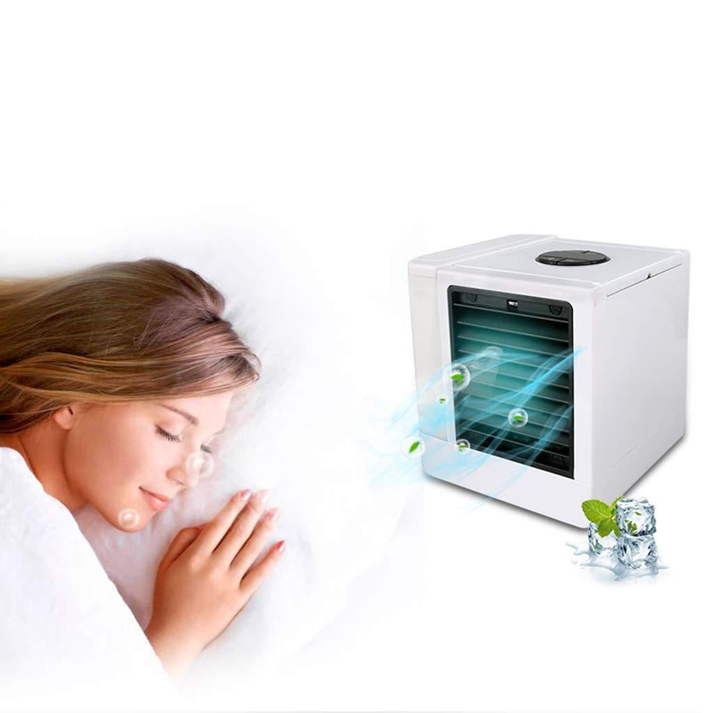 Pantalla Digital Mini Aire Acondicionado Casa oficina USB escritorio Ventilador De Aire Acondicionado Luz De Noche Colorida 5 Volumen De Viento Funci/ón De Atomizaci/ón 14X14X15cm Product