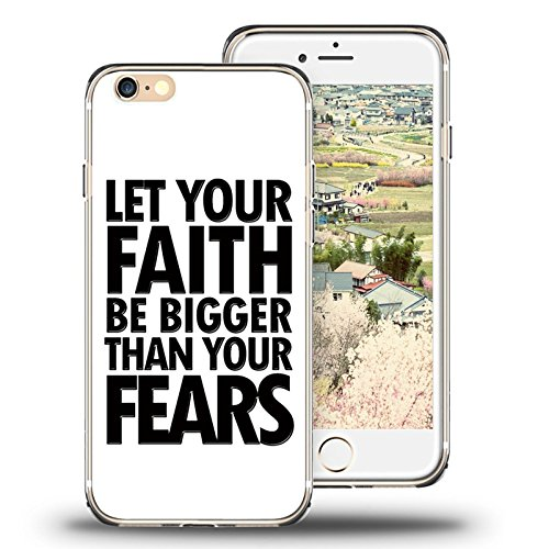 (Viwell Compatible with iPhone 6s Plus Case,Case for iPhone 6 Plus Case Viwell TPU Soft Case Rubber Silicone Let Your Faith Be Bigger Than Your Fears )