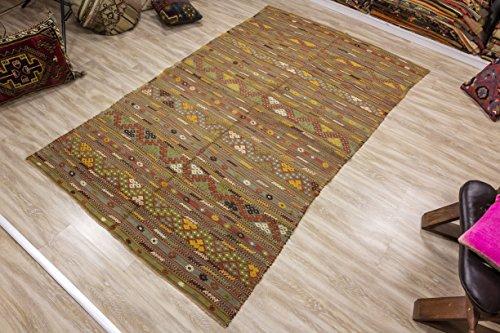 Vintage Kilim Rug 4.85x8.30 ft (148x253 cm)