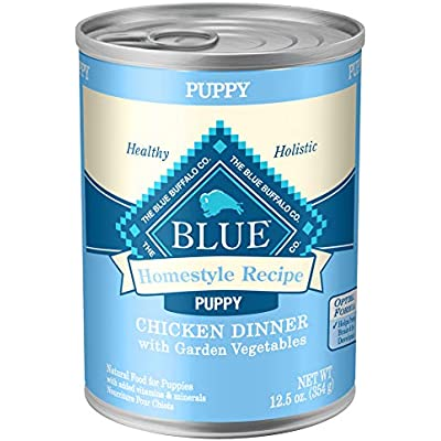 Blue Buffalo Blue Homestyle Recipe Puppy Chicken Dinner with Garden Vegetables Wet Dog Food
