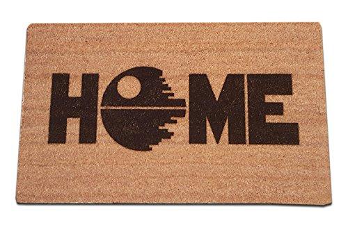 Star Wars Death Star Home Laser Engraved Coir Fiber Doormat 30 x 18