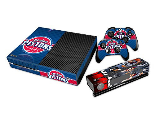 Det Pistons - DET Pistons Sticker Decal Skin Set for Microsoft Xbox One Console+Controllers