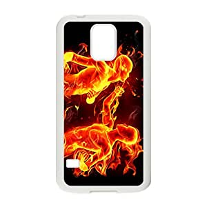 BYEB Fire Man Custom Protective Hard Phone Cae For Samsung Galaxy S5