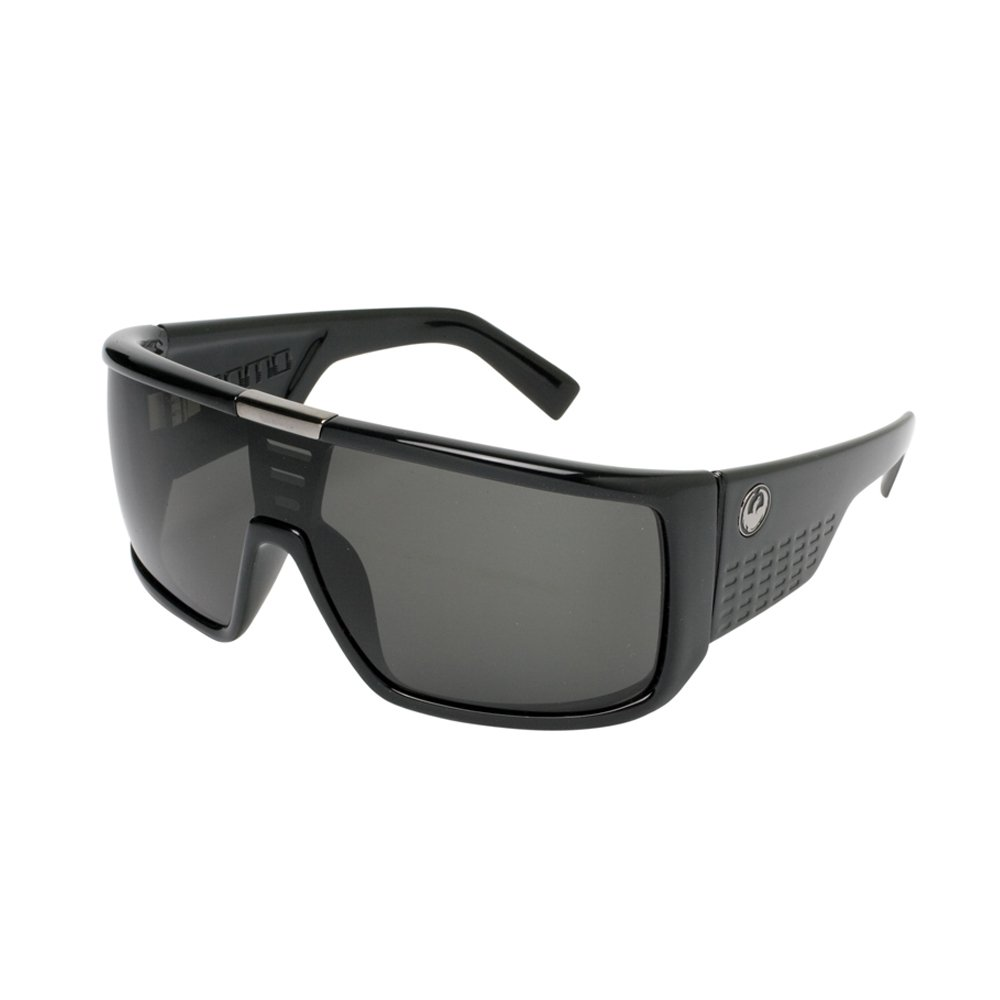 114441cc5f Amazon.com  Dragon Alliance Domo Sunglasses (Jet with Grey Lens)  Sports    Outdoors