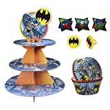 Batman Cupcake Stand Kit with Liners and Toppers