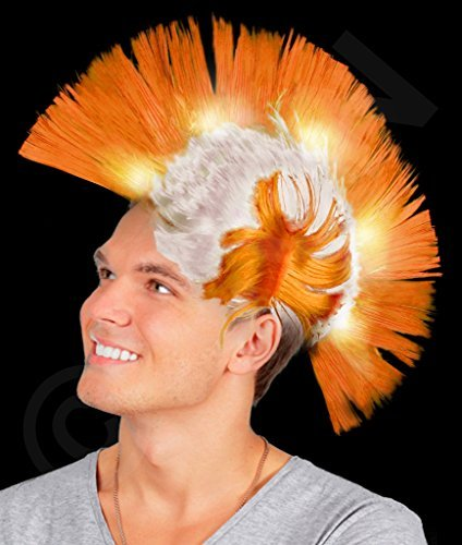 Mohawk Wigs (Fun Central AI608 LED Light Up Mohawk Wig - Orange)