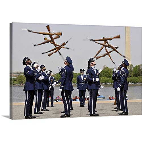 - GREATBIGCANVAS Gallery-Wrapped Canvas Entitled The United States Air Force Honor Guard Drill Team by Stocktrek Images 18