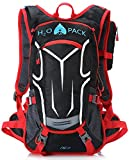 H2O PACK Hydration Pack WATER RESISTANT iPHONE POUCH Hydration Backpack w/2 Liter Bladder Daypack - Heavily PADDED - Men Women Kids - Festivals - Day Hiking - Running - Biking- Paddle Board