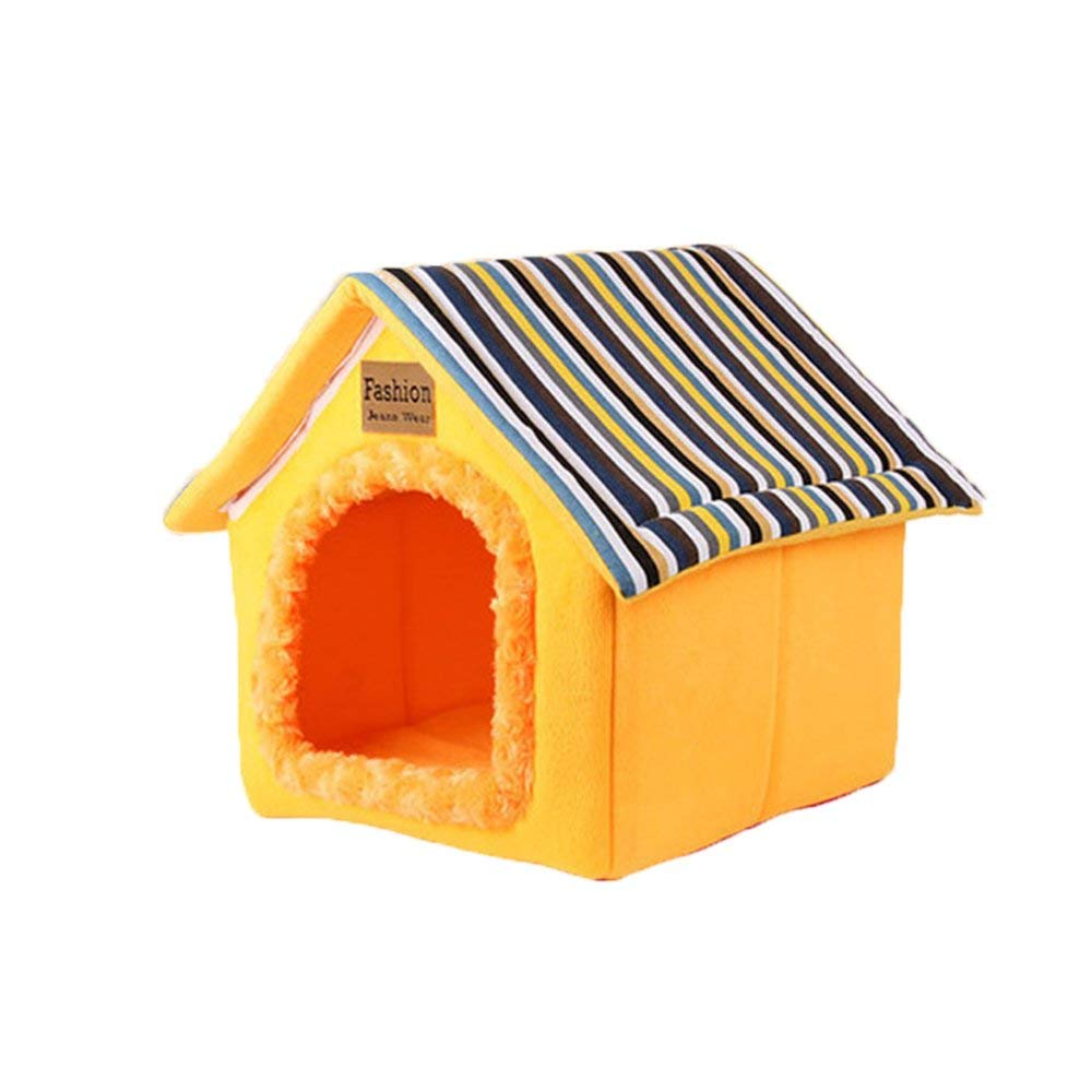 Large Pet Bed Warm Kennel Doghouse M XL Removable and Washable Winter Pet Bed Pet House Cotton Nest Indoor Animal Tent Cat Nest (Size   Large)
