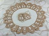 Cheonus Burlap Table Number Cards No.1-No.20 Rustic Wedding Reception Jute Hessian Cards Wedding Part Bridal Shower Hotel Decor