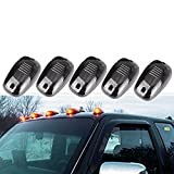 GZYF Smoke 5pcs Set Cab Roof Top Running Marker Light Covers 4x4 Truck SUV Off Road