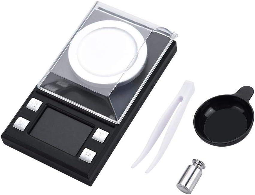 Mini LCD Milligram Digital Electronic Pocket Scale 0.001g Balanzas electrónicas de pesaje para monedas de joyería Recargar y cocina(100g)