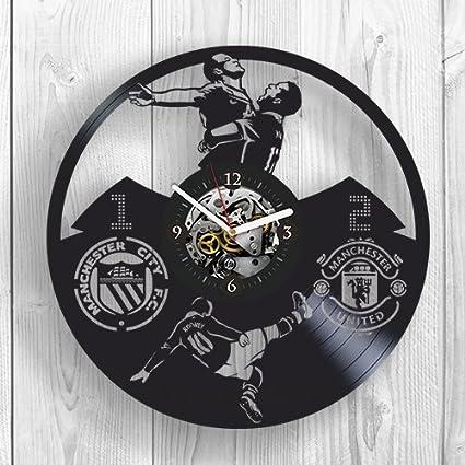 Amazon.com: Wayne Rooney, Manchester United, Football, Vinyl Clock ...