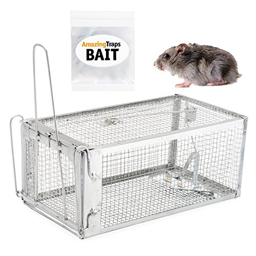 The Amazing Rat Trap Includes Starter Bait - Humane Live Cage Catches Rats, Mice, Hamsters, Moles, Weasels, Gophers, Squirrels and Other Small Rodents