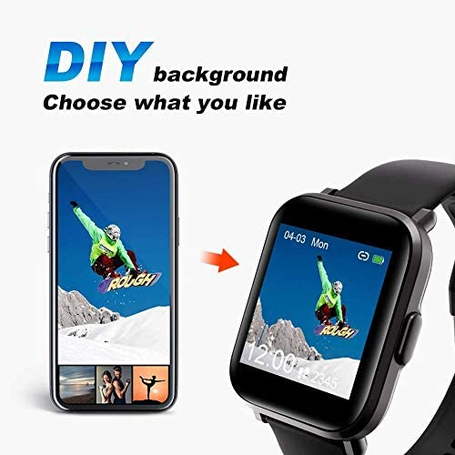 Smart Watch, UXD Fitness Activity Tracker with Sleep Heart Rate Monitor for Men Women 5ATM Waterproof Pedometer Smartwatches for iPhone Samsung Android Phones 8