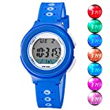 Kid Watch for Boy Girl LED Multi Function Fashion Sport Outdoor Digital Wristwatch Dress Waterproof Alarm Blue