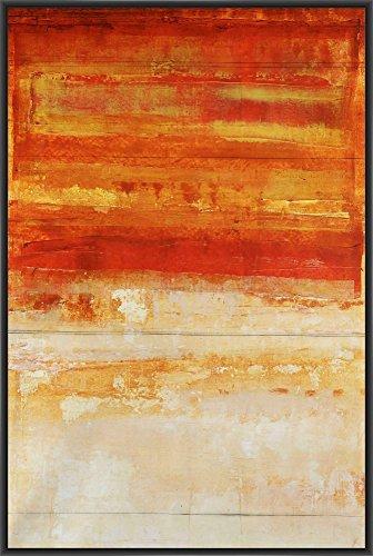 CRIMSON SKIES 22L X 28H Floater Framed Art Giclee Wrapped ()
