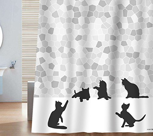 Cat Shower Curtains | Kritters in the Mailbox | Cat Shower Curtain
