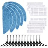 isinlive Replacement Parts Compatible ILIFE V3 V3s V5 V5s V5s pro Robot Vacuum Cleaner Accessories, 23 Pack (12 Side Brush + 6 Hepa Filter + 5 Mop Cloth)