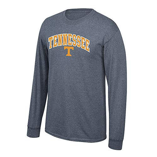 Elite Fan Shop NCAA Men's Tennessee Volunteers Long Sleeve Shirt Dark Heather Arch Tennessee Volunteers Dark Heather Large