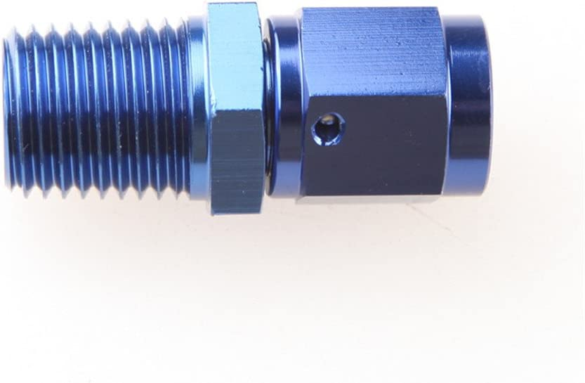 """Earls Fitting Adapter Straight 4AN Female Swivel 1//8/""""NPT Male Aluminum AT916104"""