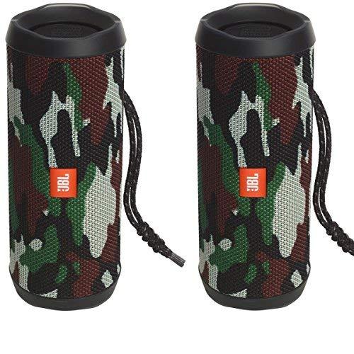 JBL Flip 4 Waterproof Portable Wireless Bluetooth Speaker Bundle - (Pair) Camouflage