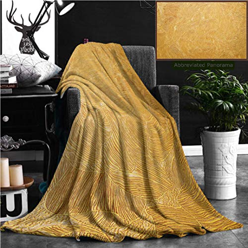 - Nalagoo Unique Custom Flannel Blankets Gold Background Texture Wallpaper On The Wall Element Of Design Super Soft Blanketry for Bed Couch, Throw Blanket 60