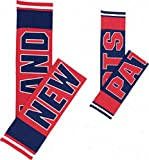 NFL Reversible Knit Team Name Contrasting Knit Winter Scarf (New England Patriots)