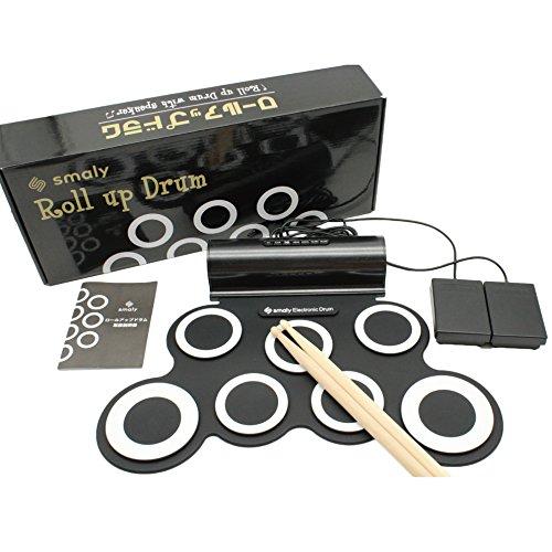 [해외] 스마리(SMALY) 전자 드럼 롤업 드럼 USB전원식 (스피커 내장) 풋 페달/드럼 스틱 부속 SMALY-DORAM-1