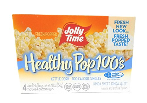 Jolly Time 100 Calorie Healthy Pop Kettle Corn Mini Bags (2 Pack) 10 Count Boxes