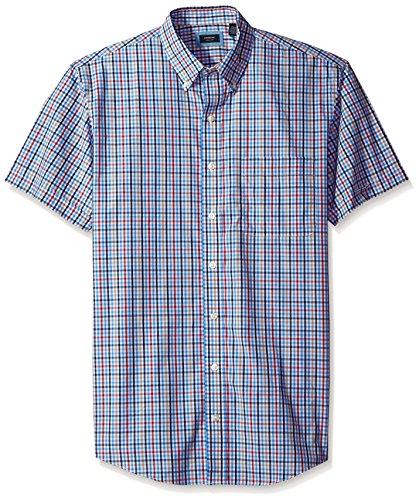 arrow-mens-tall-short-sleeve-hamilton-poplin-plaid-shirt-regatta-2x-large-big