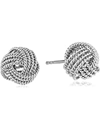 Sterling Silver Twisted Love Knot Stud Earrings