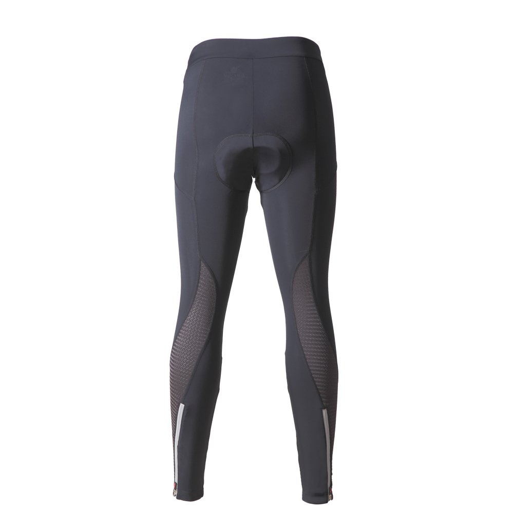 beroy Women 3D Padded Cycling Pants with Adjust Drawstring,Ladies Compression Tights Bike Pants(M Black) by beroy (Image #2)