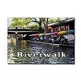 "CafePress - Riverwalk, San Antonio,TEXAS Rectangle Magnet - Rectangle Magnet, 2""x3"" Refrigerator Magnet"