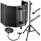 Neewer Professional Microphone Studio Recording Accessories Include: NW-1 Microphone Isolation Panel, Wind Screen
